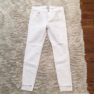 White Jeans Mid Rise 9 Stretch